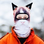 Angry Cat facemask with ears
