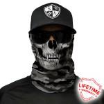 Grey Military Camo Skull